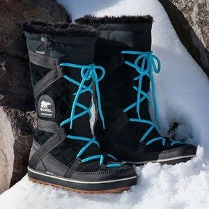 Sorel Glacy Explorer Winter Boot Black Black 12